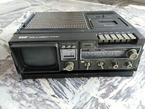Televisore 10 pollici Isp radio tv cassette recorder