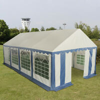 13'x26' Party Tent Shelter Heavy Duty Patio Wedding Canopy Carport Blue Edge