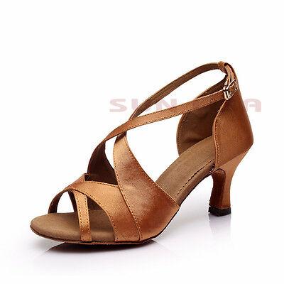 New Women's Lady's Girl's Heeled Latin Salsa Tango Ballroom Dance Shoes B62