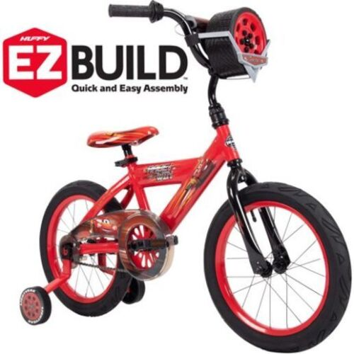 NEW! EZ Build Kids Red 16 Disney Pixar Lightning McQueen Learning Bike w/Sounds