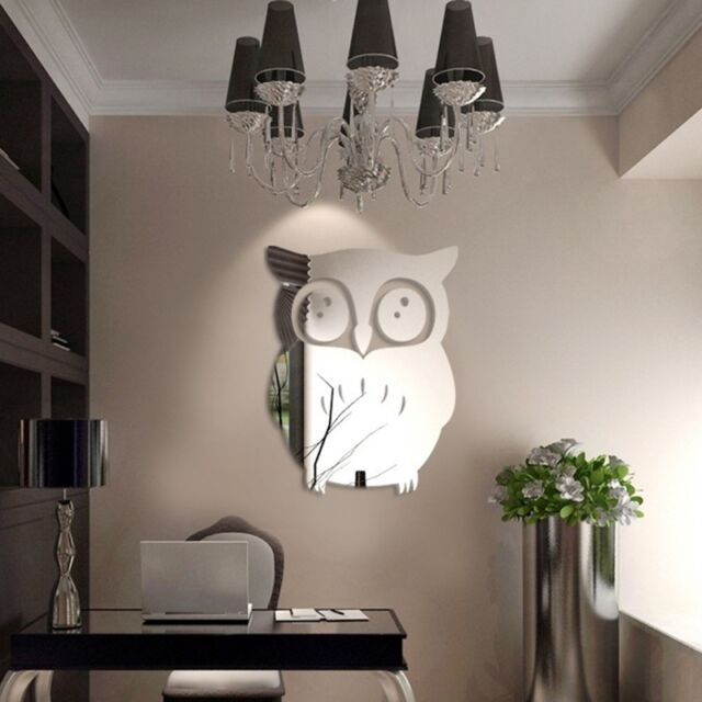 3D Owl  Mirror Vinyl Removable Wall Sticker Decal Home Decor Art