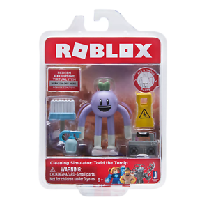 SEALED ROBLOX Celebrity Figures Accessories CLEANING SIMULATOR TODD TURNIP