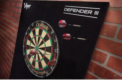 "Defender III 3 Dartboard Surround Wall Protector STEEL TIP DARTS 1"" V-Foam Pad"