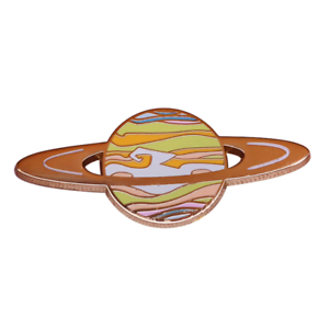 Planet Saturn Lapel Pin SATURN Planet Enamel Pin