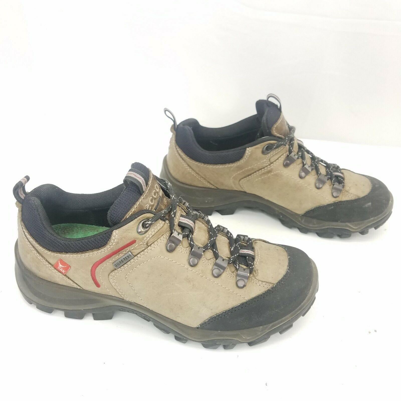 Ecco Ulterra Shoes Goretex Yak Hiking Boots Lace Up Sneakers Mens Size 39 US 6.5