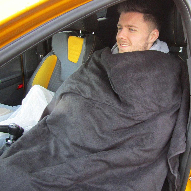 Grand 12 V chauffant électrique voiture van camion Polaire Voyage Confortable Chaud Voyage Polaire Couverture ce12ff