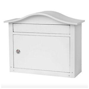 Large Wall Mount Locking Security Mail Box Mailbox Slot