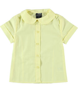 French Toast Back to School Round Collar Peter Pan White Blouse Size 4-20 NWT