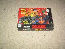 Justice League Task Force SNES Super Nintendo NES CIB 100% Complete Mint
