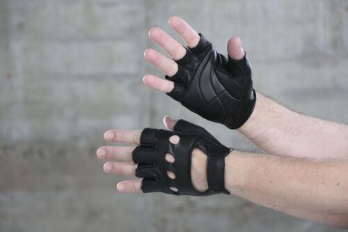 Cicli-Franconi, retro vélo gants cuir mitaines, Noir, cycle basiques