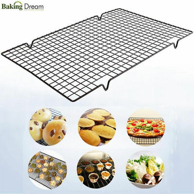 Nonstick Cooling Rack Mesh Grid Cookie Biscuit Cake Drying Stand Baking Wire Pan