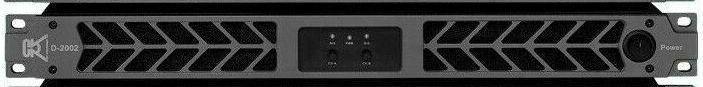 CVR D-2002 Series Professional Power Amplifier 1U 2000 Watts x 2 at 8Ω schwarz.