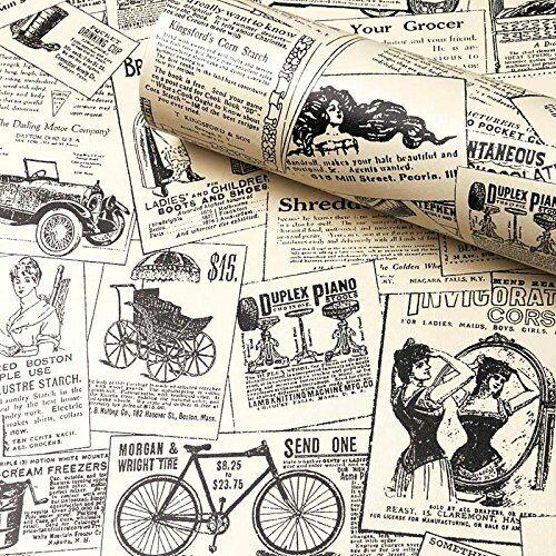 Self-Adhesive Shelf Liner Newspaper Drawer Contact Paper Shelf Liner Wallpaper