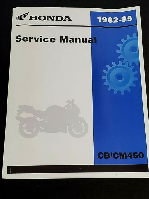 Honda 1982   Cm 450 Oem Factory Service    Repair
