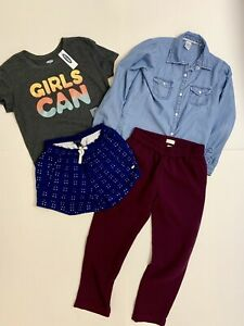 Tommy-Hilfiger-Crewcuts-Carters-Old-Navy-Girls-Mix-Lot-Of-Tops-amp-Bottoms-Size-8