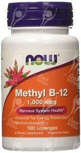 Now-Foods-Methyl-B12-1000mcg-x-100-Lutschpastillen-Antioxidative-Unterstuetzung