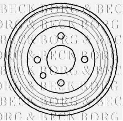 Borg & Beck Bbr7040 Tamburo Del Freno Si Adatta Gm Astra Cavalier 1.3-1.8 79 --