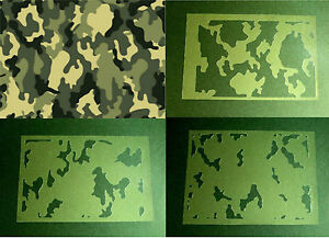 New t12 airbrush stencils military camouflage texture for Camo paint template