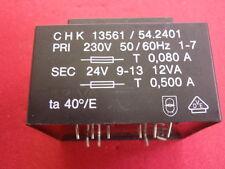 PRINT-TRAFO 24V~ 500mA  ABMESSUNGEN ca. 56x46x40mm TRANSFORMATOR   24781