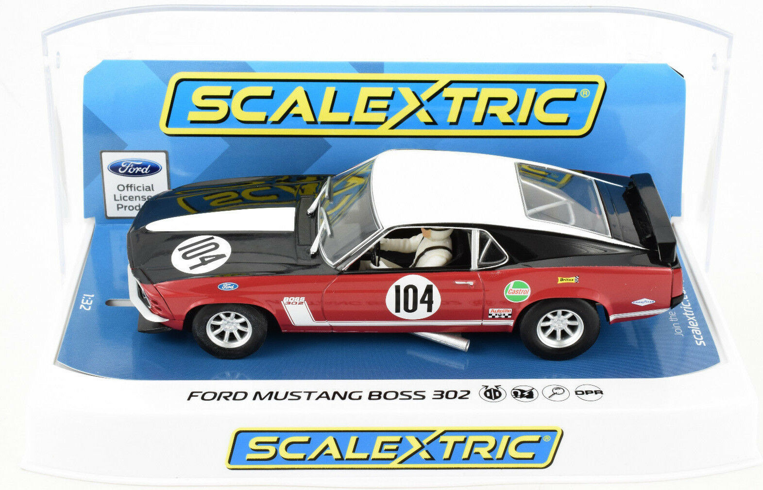 Scalextric Ford Mustang Boss 302 - Saloon Champ. DPR 1 32 Scale Slot Car C3926