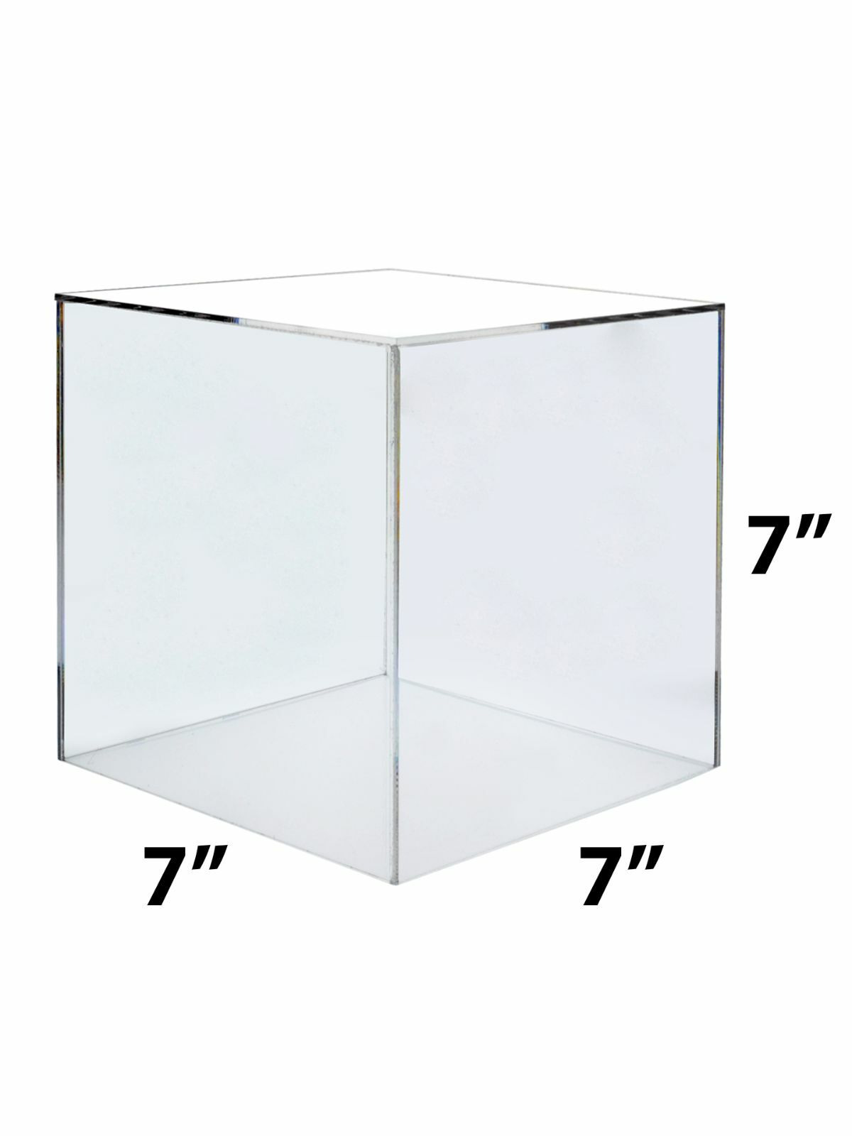 LOT OF 6 Acrylic 7  Jewelry Cube Riser Display Box   5 Sided