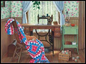 Sewing Corner - Chart Counted Cross Stitch Pattern Needlework Xstitch craft DIY