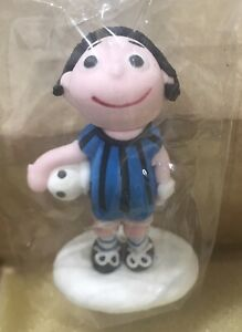 Soccer Player Cake Topper - Blue Striped Party Cupcake Toppers Decorations Cakes