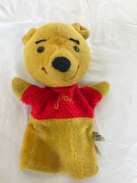 Vintage Walt Disney Plush Winnie The Pooh Hand Puppet By Animal Fair