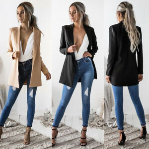 Women-Suit-Top-Ladies-LongSleeve-Cardigan-Casual-Blazer-Suit-Jacket-Coat-Outwear