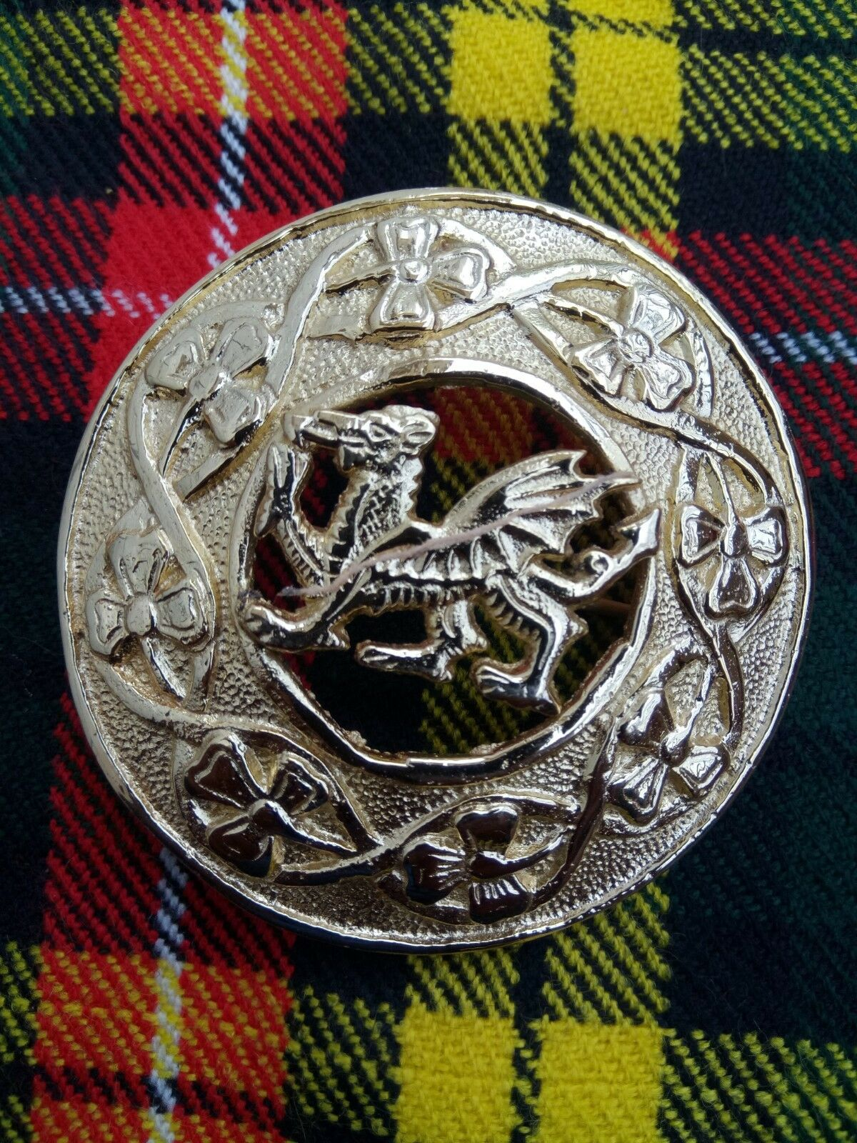 Celtic Brooch Gold Plated Finish 3