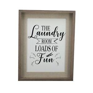 Details About Parisloft Laundry Room Signs Wall Decor Vintage Wooden Sign Plaque