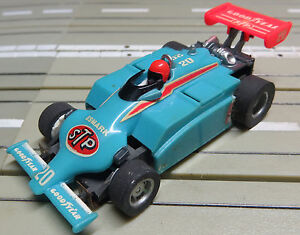 For-H0-Slotcar-Racing-Model-Railway-F1-Indy-Stp-with-Tyco-Engine