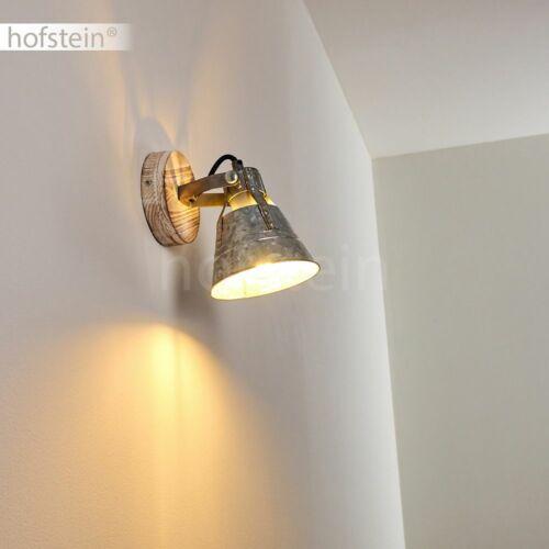Vintage Wand Lampen Zink//Holz Wohn Schlaf Zimmer Raum Beleuchtung Flur Strahler