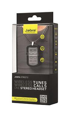 Jabra Street 2 Bluetooth Wireless Stereo Headset + Noise Blocking Earbuds -Black
