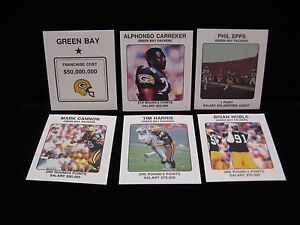 1989-Green-Bay-Packers-NFL-Franchise-Cards-Pick-from-the-drop-down-menu