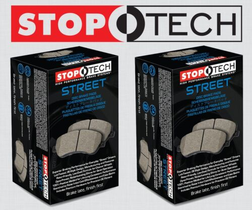 FRONT + REAR SET STOPTECH Street Performance Disc Brake Pads STP96217