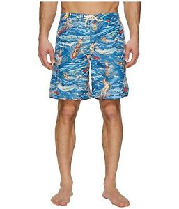 56b7d66b0aab9 Polo Ralph Lauren Men's Big & Tall Kailua Swim Trunks,Hawaiian, 2XLT ...