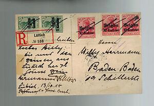 RPPC 1914 RPPC Ruins of Loncin postcard Cover Germany Belgian Overprint to BAden