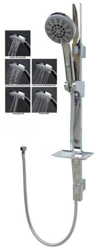 Duschset Duscharmatur Duschstange Handbrause Duschsystem Duschkopf Brause Chrom