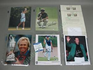 7-Signed-PGA-LPGA-Golf-Photo-Lot-HOF-Greg-Norman-Annika-Sorenstam-Julie-Inkster