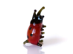 "Blown Glass /""Murano/"" Art Figurine Small Insect Dark Red SNAIL"