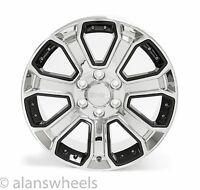 "4 Chevy Suburban Tahoe Chrome & Black Inserts 20"" Wheels Rims Lugs 5660"