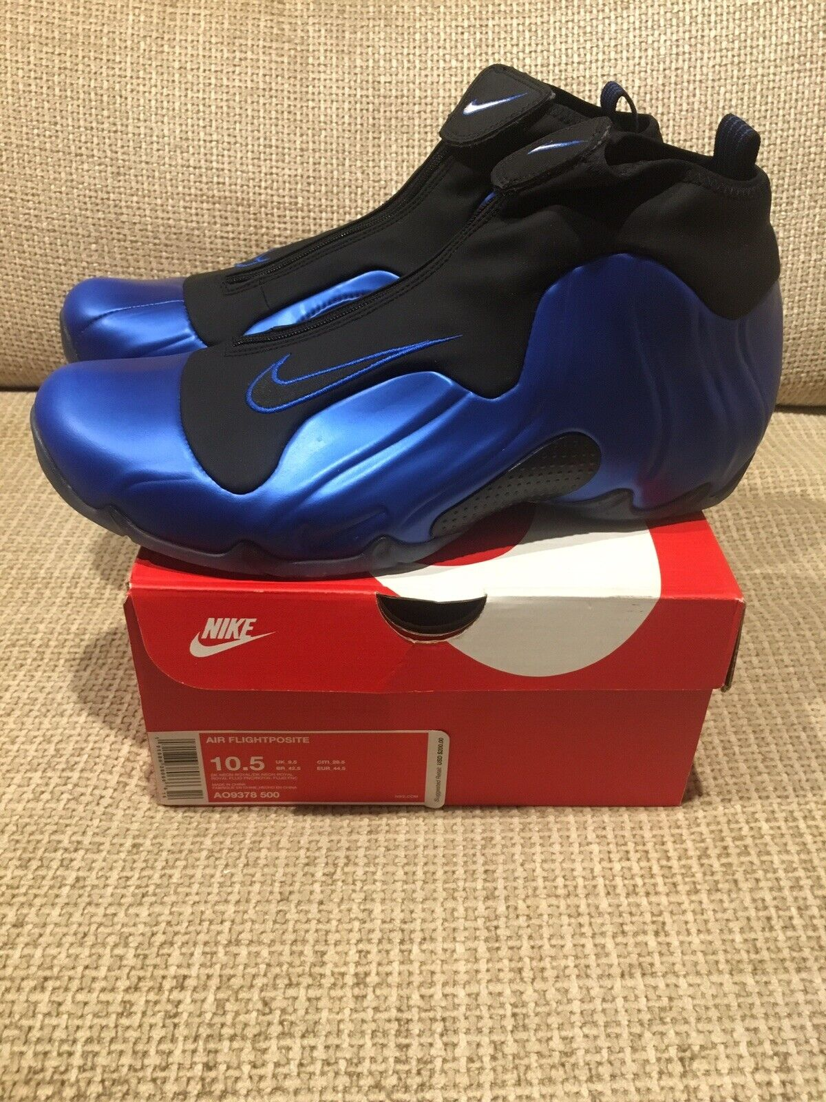 Nike Air Flightposite Dark Neon Royal blu AO9378  -500 Mens 10.5 Penny Hardaway  l'intera rete più bassa