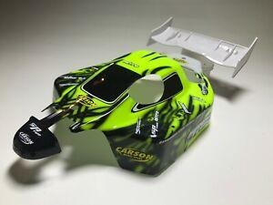 Neon-Gelb-Specter-Carson-Karo-amp-Spoiler-Set-SP-Two-Karosserie-Body-1-8-4WD-Buggy