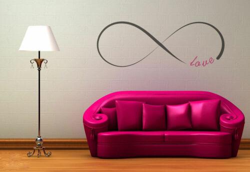 Signo de infinito amor cita reutilizable Plantilla A5 A4 A3 Artesanía Decoración de pared//Q12