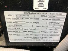 Generac 75 Kw 120240v Single Phase Standby Generator Used