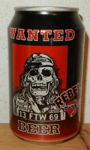 WANTED REBEL Beer can from AUSTRIA (33cl)  Empty !!