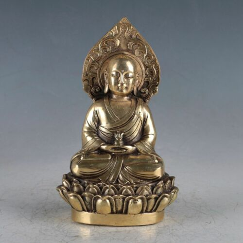 Chinese Brass Buddha Statue Made During The Da Ming Xuande