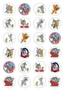 24 Tom And Jerry Cupcake Cake Toppers Edible Rice Paper eBay