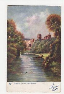 Warwick Castle from Bridge Tuck 6172 Postcard A631 - Malvern, United Kingdom - Warwick Castle from Bridge Tuck 6172 Postcard A631 - Malvern, United Kingdom